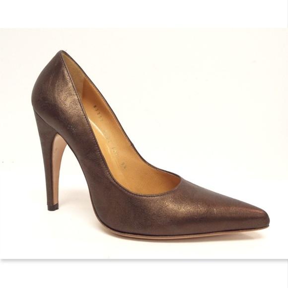Casadei Woman Textured Patent-leather Platform Pumps Dark Brown Size 41 Casadei IbaGokGQ